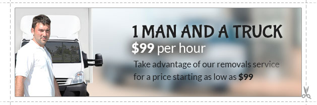 Hire a truck and 1 man for $99/hour