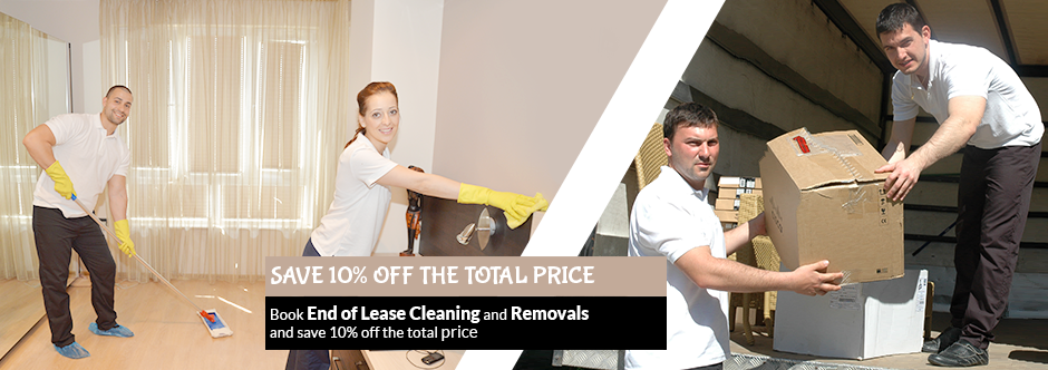 End of Lease Cleaning + Removals:Save 10% off the total